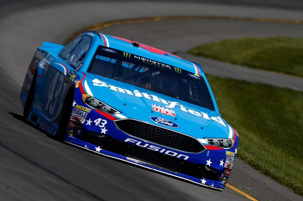 LONG POND, PA - JUNE 09:  Darrell Wallace Jr., driver of the #43 Smithfield Ford, practices for the Monster Energy NASCAR Cup Series Axalta presents the Pocono 400 at Pocono Raceway on June 9, 2017 in Long Pond, Pennsylvania.  (Photo by Jeff Zelevansky/Getty Images)